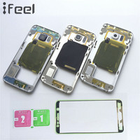 New Middle Plate Frame Bezel Housing Side Button Camera Glass Lens For Samsung Galaxy S6 Edge