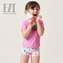July/милый летний купальный костюм из двух предметов с рисунком мороженого для маленьких девочек; ; 18Y009