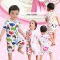 0-18months 4 padrões de varejo curto-de Mangas Compridas Bebê romper Infantil roupa Roupas dos desenhos animados para meninos meninas macacões