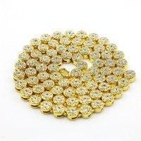 Mens Hip Hop Vòng Cổ Flower Cụm Đen Iced Out Chain Vòng Cổ Simulated Diamonds 30 '' Đồ Trang Sức Cho Nam Giới Cao Khuyến Mãi Nn07