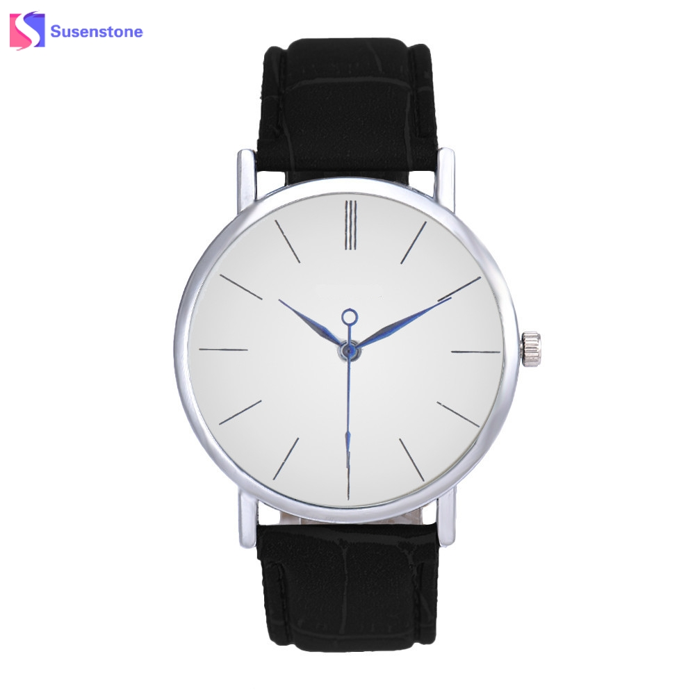 Luxury Brand Men Women Watches Fashion Casual Unisex Analog Quartz Watch Clock Leather Strap Sports Wristwatch relogio feminino new fashion unisex women wristwatch quartz watch sports casual silicone reloj gifts relogio feminino clock digital watch orange