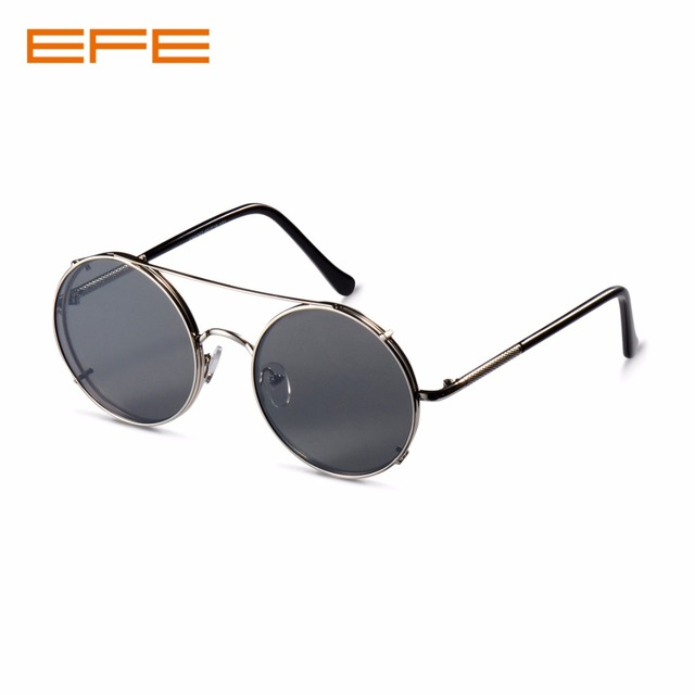 307e7ce5f EFE Sunglasses for Women Vintage Metal Round Shaped Mirror Coating lens Men  Driving UV400 oculos de sol ...