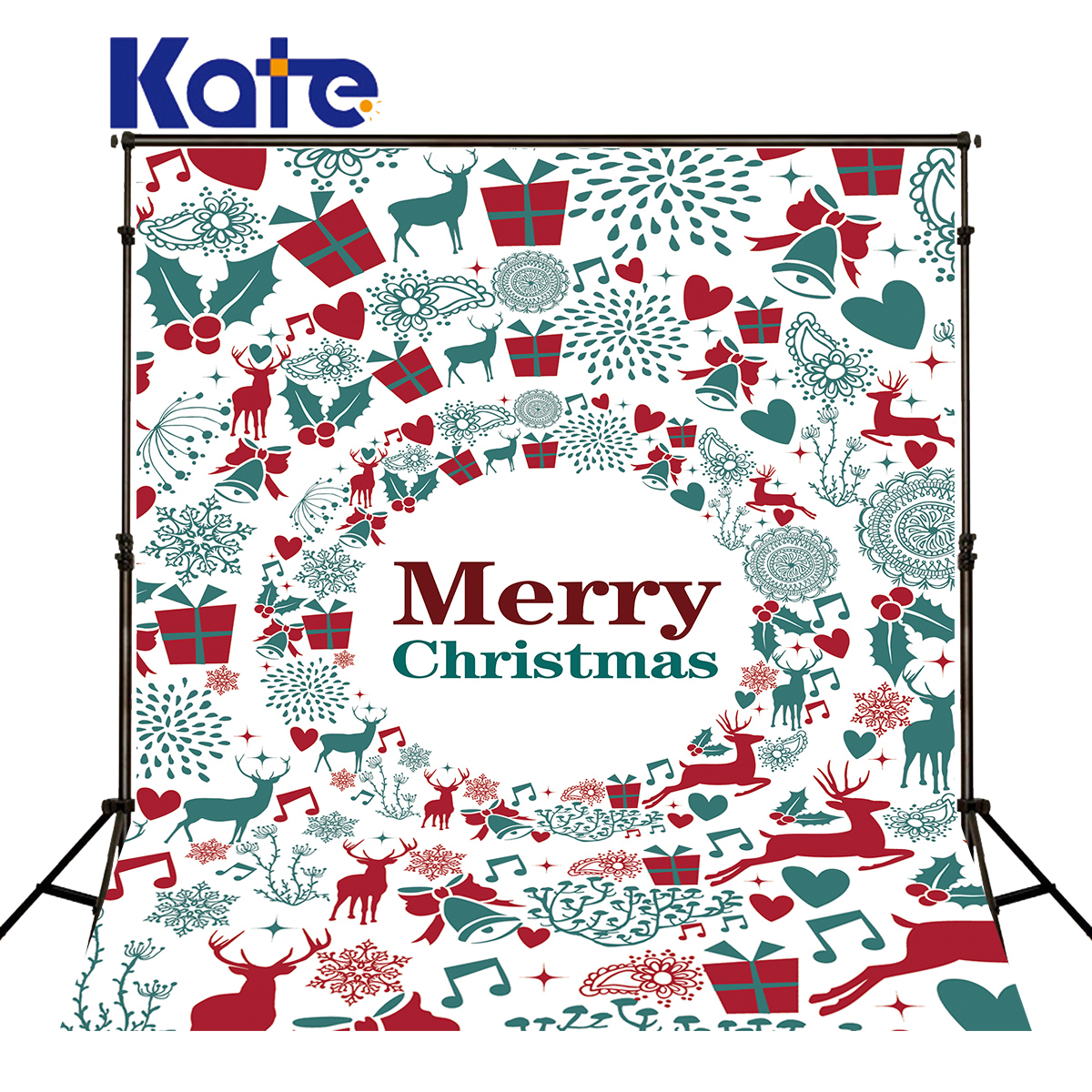 Kate Christmas Backdrop Photography Elk Bell Spot Painting Photo Background Christmas Photocall Backgrounds For Shoot allenjoy christmas village decoration house amusement park foto for a photo shoot photographing background photography