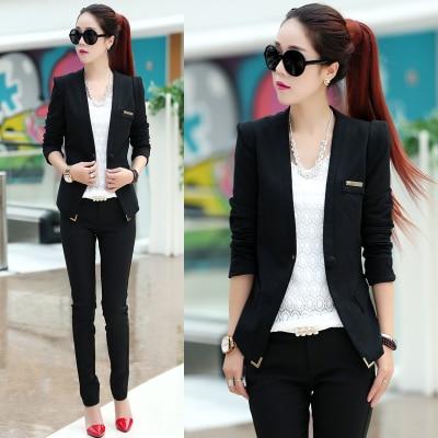 8daeccdabd1 plus size 2017 spring winter women sexy casual suit blazers femininos elegant  long sleeve jackets blazers workwear office coats-in Blazers from Women s  ...