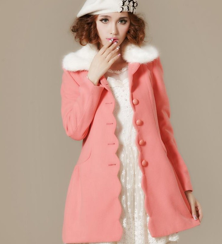 Online Buy Wholesale pink pea coat women from China pink pea coat ...