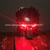 Red Led Luminous Ghosts Halloween Mask Led Glowing DJ Cosplay Dance Wear Masquerade Party Masks