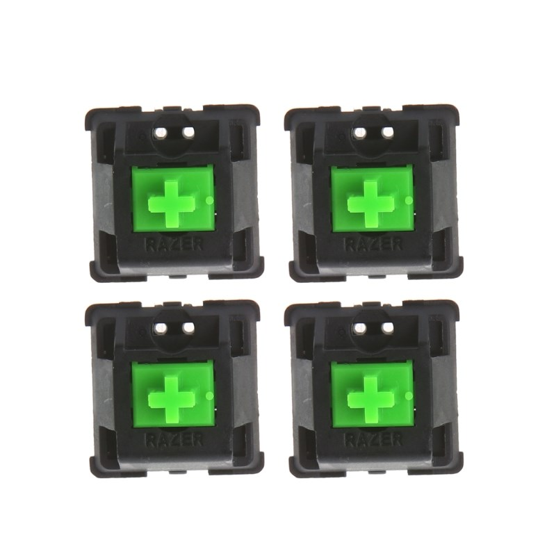 RGB Magic Axis MX Axis 4pcs Green Switches For Razer Blackwidow Chroma Gaming Mechanical Keyboard And Others With Led Switch