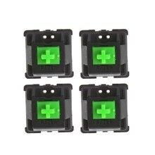 RGB Magie Achse MX Achse 4 stücke Grün schalter für Razer blackwidow Chroma Gaming Mechanische Tastatur und andere mit led schalter