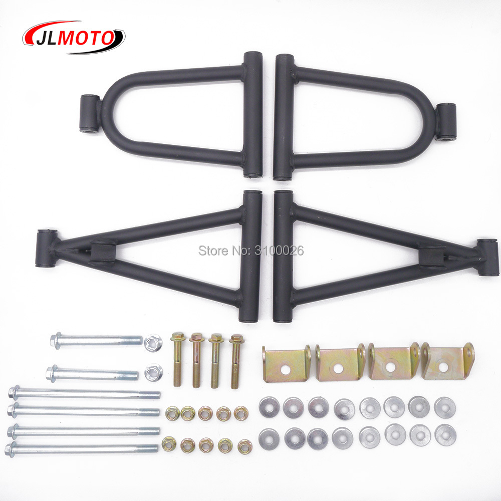 1Set 285mm Front Suspension Swing Arm Upper/Lower A Arm Of DIY 49cc 50cc 110cc Kids ATV 4 Wheels Quad Bike Buggy Go Kart Parts