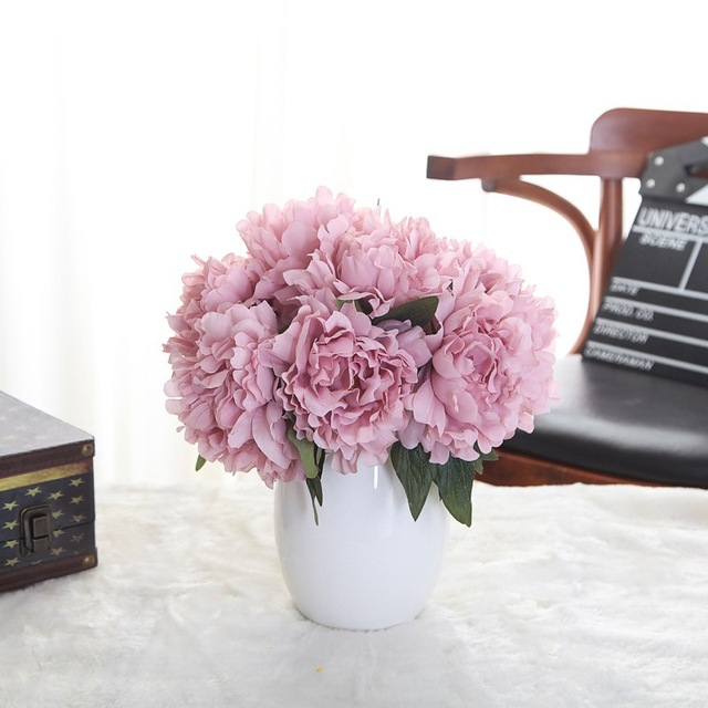 HUAIU Peony Artificial Flowers Wholesale Wedding Home Decoration ...