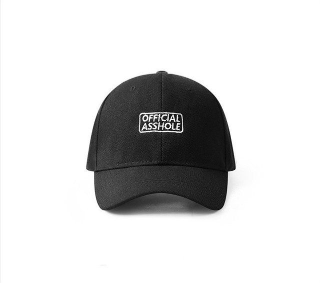 buy online dd43a 9d103 Offical Asshole Letter Embroidery Men And Women Hat Casual Wear Hip Hop  Chic Tide Brand Loves Couple Snapback Caps