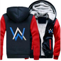 Alan Walker Thicken Hoodie Rage DJ Life Rave edm AW Walkzz Warm Fleece Hoodie Alan Walker Winter Warm Zipper Coat Hoodie