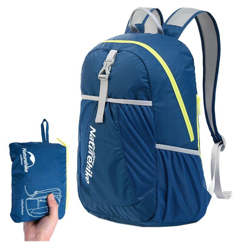 Naturehike unisex backapack plegable al aire libre mochila de viaje impermeable
