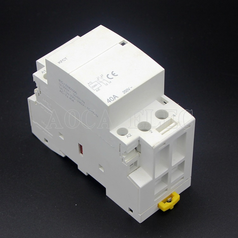 4P 63A 220V 400V~ 50/60HZ Din rail Household ac Modular contactor 100A 32A 63A 25A
