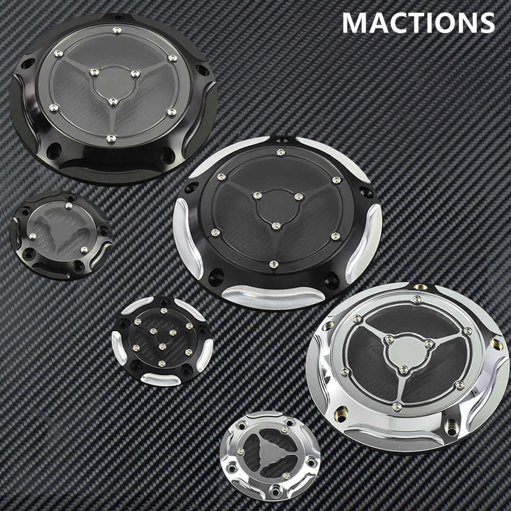 Adroit Contrast Cnc Derby Timing Timer Cover For Harley Touring Electra Glide Road King Dyna Softail Heritage Fatboy 99-17 Engine Cover Frames & Fittings