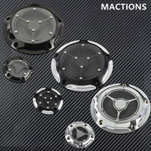 Motorcycle Derby Timing Timer Cover CNC Engine Cover For Harley Touring Electra Glide Dyna Softail Heritage Deluxe 99 2016 2017