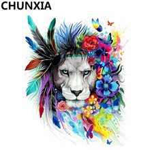 CHUNXIA Painting By Numbers DIY Framed Oil Paint Pictures Wall Art Home Decor Unique Gift(China)