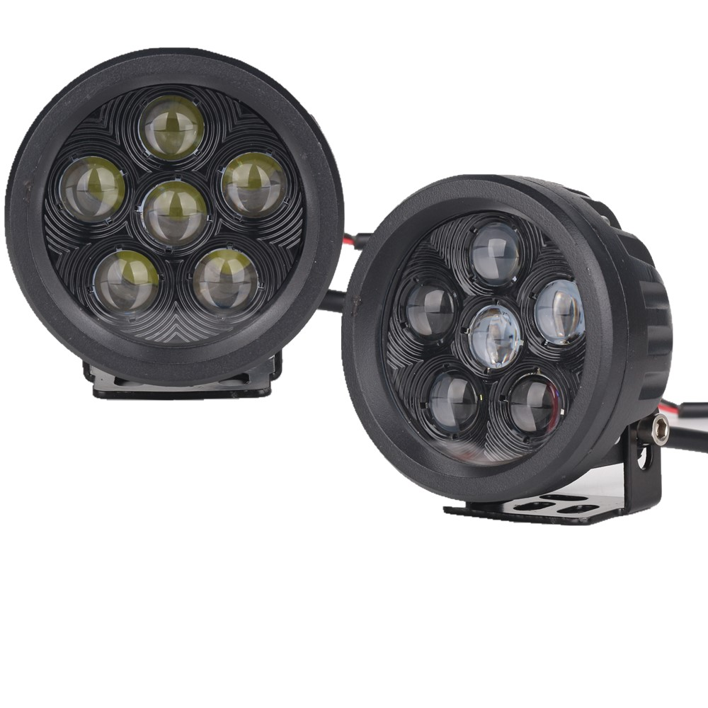 4D 3.5 inch 18W Round Led Projector Work Lights Offroad Pod Spotlight for Jeep SUV ATV Boats Cars Trucks Motorcycles