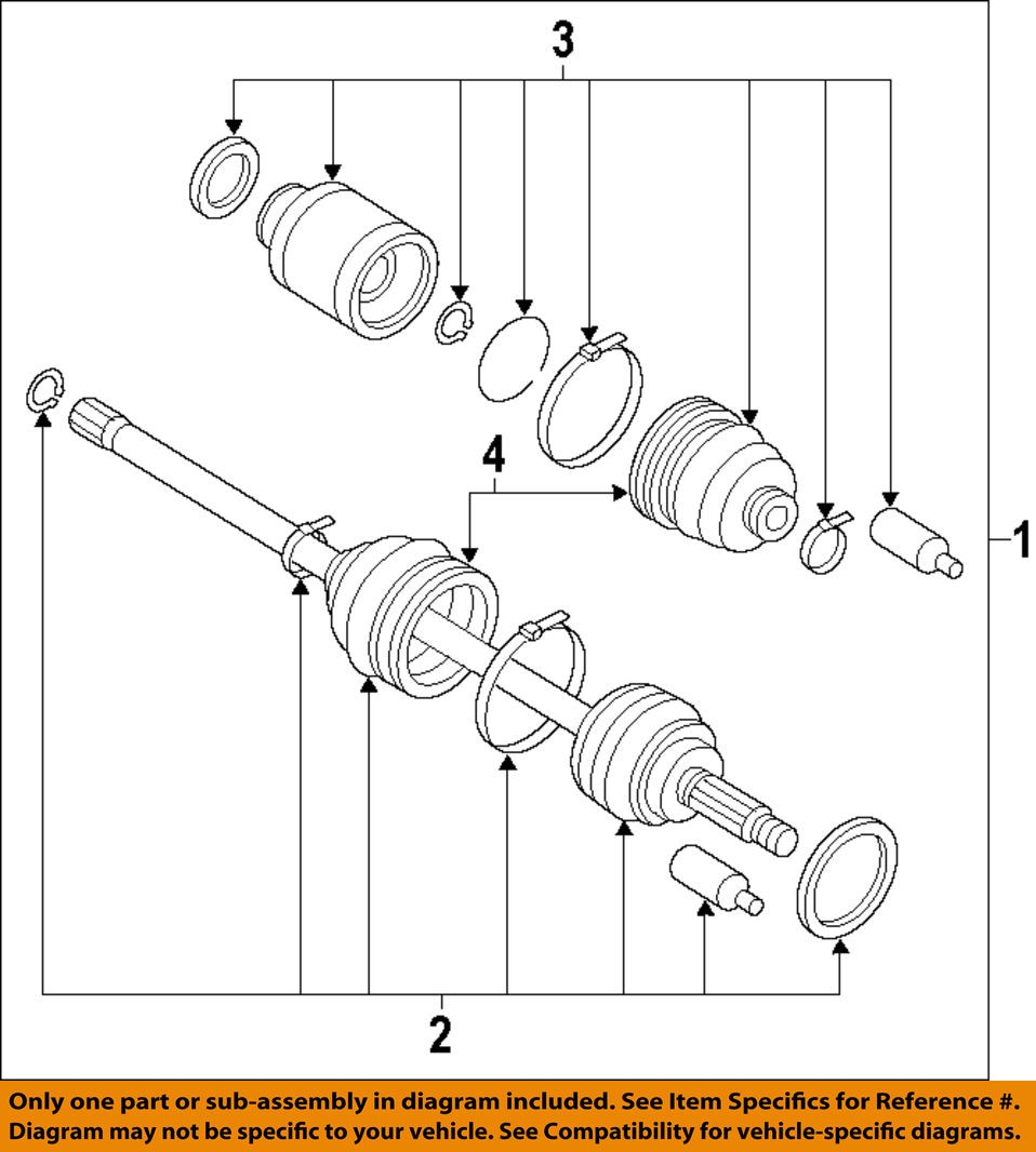 Right Complete New OE CV Joint Axle Drive Shaft for Subaru Impreza Front Left