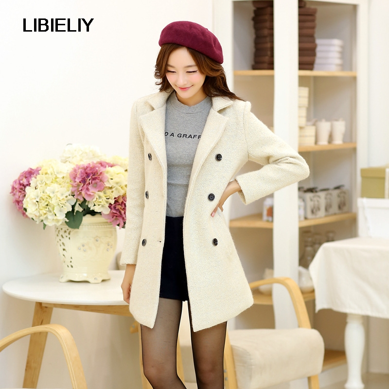 casaco beige d 39 hiver marque femmes laine nouvelle vestes. Black Bedroom Furniture Sets. Home Design Ideas