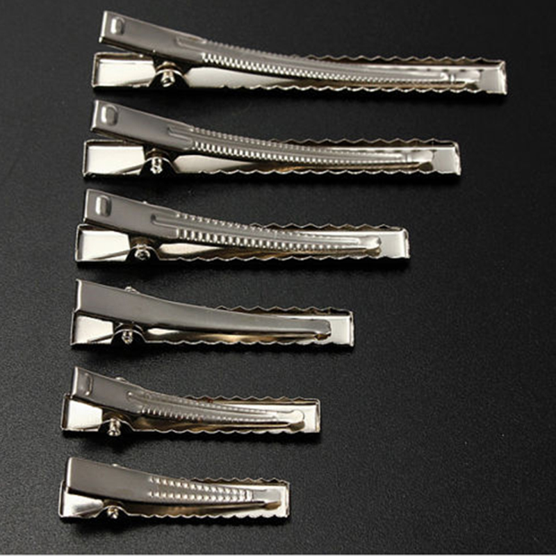 50pcs Metal Hair Alligator Clips 35mm/40mm/45mm/55mm/65mm/75mm For Hair Style Tools Accessories(China)