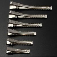 50 sztuk metalowe do włosów zaciski krokodylkowe 30mm/40mm/45mm/55mm/65mm/75mm na przybory do stylizowania włosów akcesoria