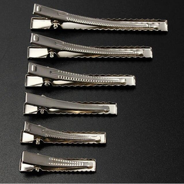 50 шт. Металл волос зажимы типа крокодил 35 мм/40 мм/45 мм/55 мм/65 мм/75 мм для инструменты для моделирования причесок интимные аксессуары