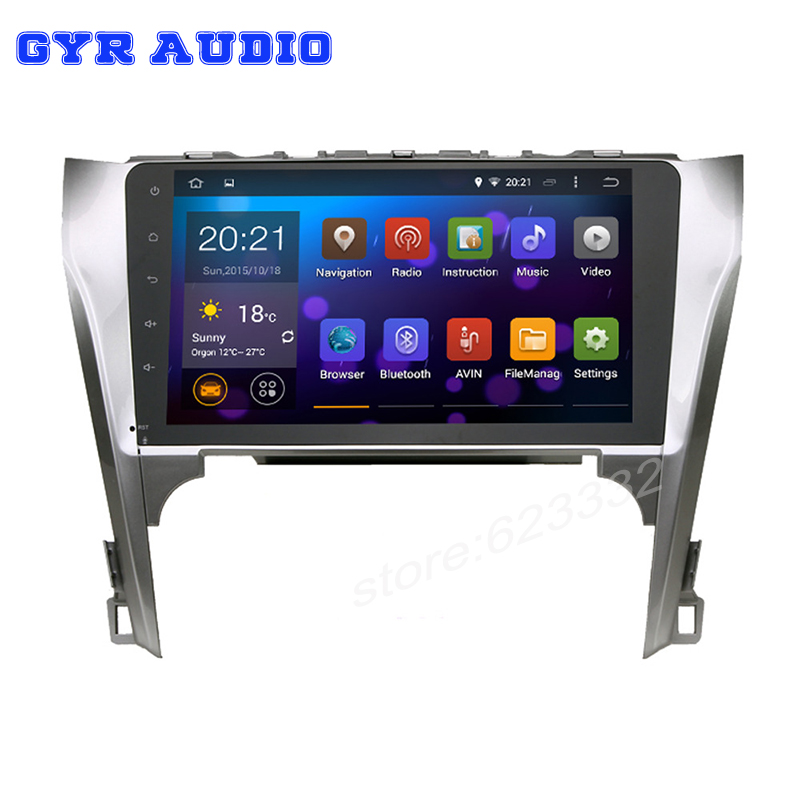 10 1 inch Quad core Pure android 5 1 Car GPS for Toyota Camry 2012 14