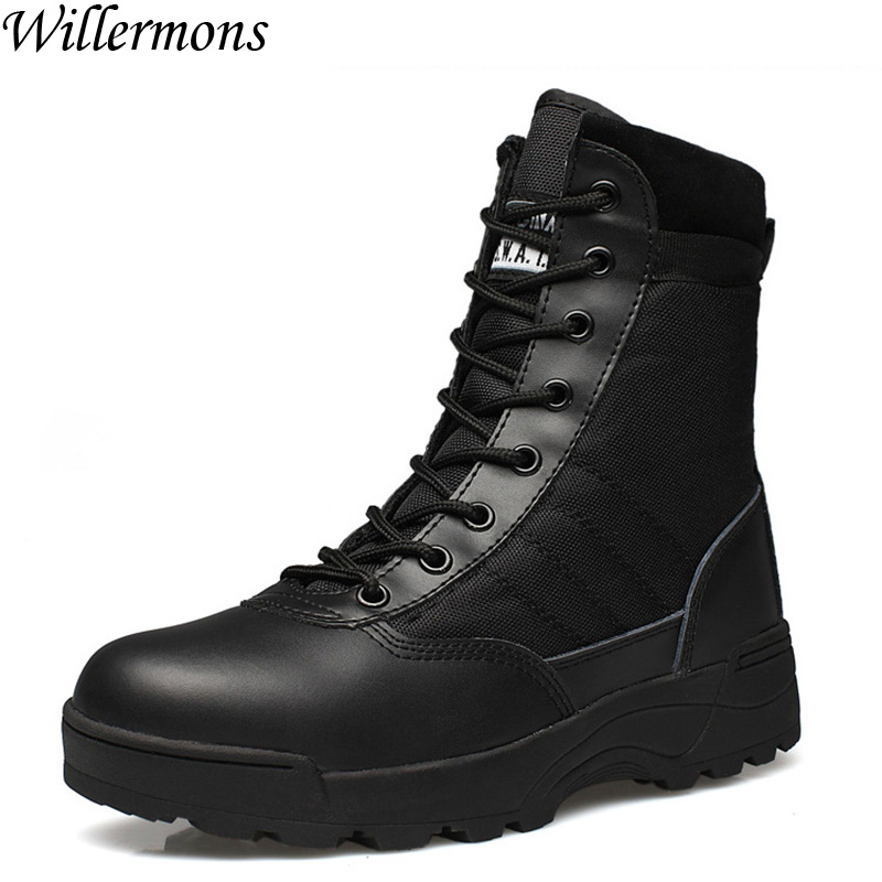 цены 2017 New Military Men's Outdoor Breathable Hiking Tactical Boots Men Army Combat Trekking Climbing Shoes Mountaineering Boots