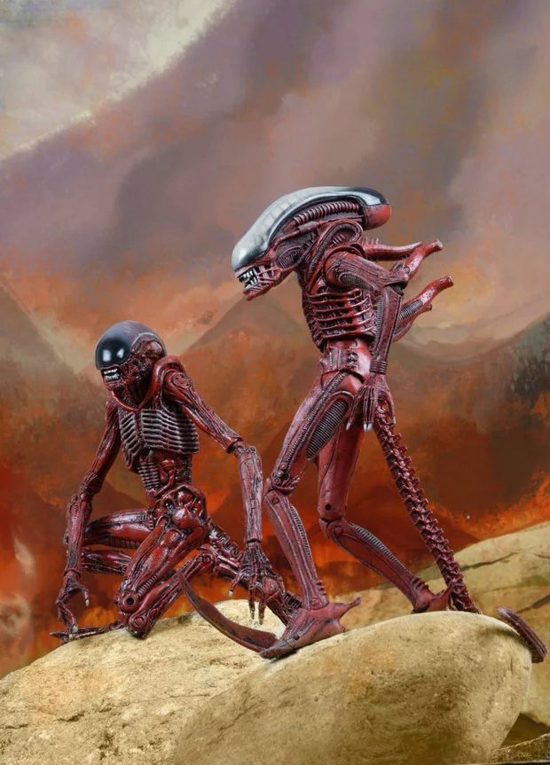 New Arrival NECA Series Classic Sci-Fi Movie The Alien  Aliens Genocide Red 18CM  Scale Action Figure 7 18cm neca official 1979 movie classic original alien pvc action figure collectible toy doll wf074