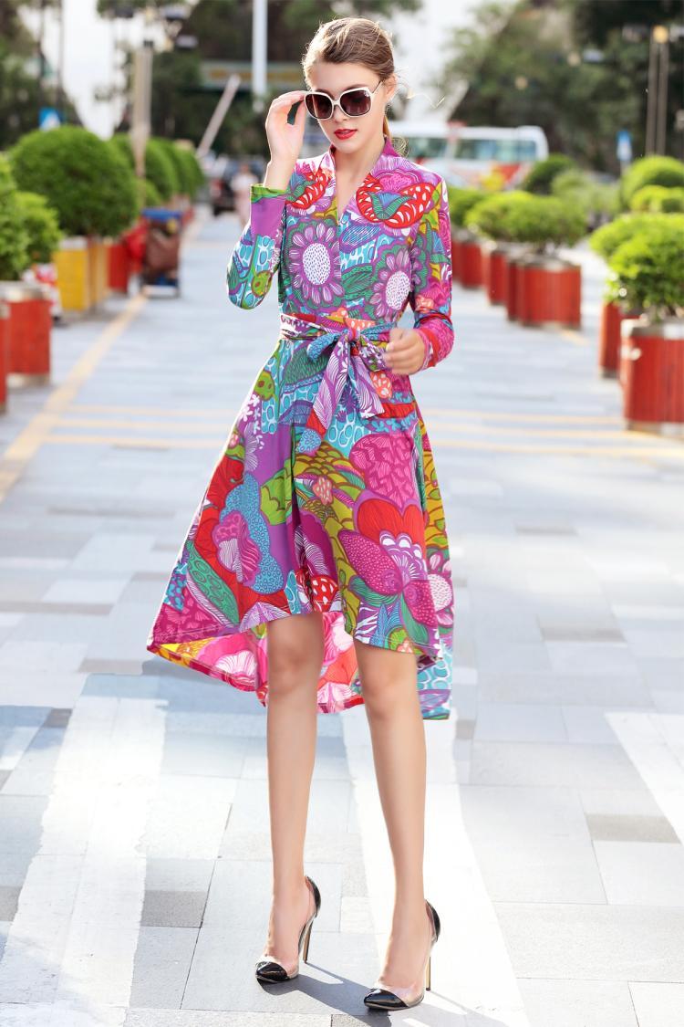 De Vêtements Empire Imprimé mollet Vente As À Sexy Asymétrique Chaude Femmes Ceintures Longues 2018 Cou Manches Mode V Robe Mi Pic 4ww6atq