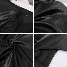 Leather Dress Women Bandage Bodycon Pencil Sleeveless Club Party Short Dress Leather boat neck sleeveless dresses