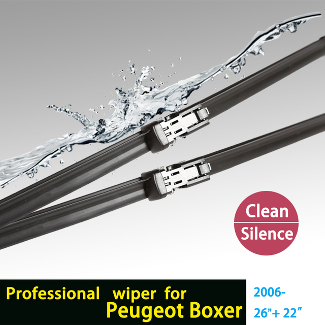 "wiper blades for Peugeot Boxer (From 2006 onwards) 26""+22"" fit push button type wiper arms only HY-011"