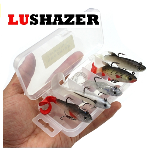 5pcs/lot LUSHAZER soft bait 9.3g 14g fishing lures iscas artificiais para pesca fish silicion baits fishing wobblers tackles fishing lure soft bait bugsy shad 2 8 swimbait iscas artificiais pesca 10pcs 7cm 2 5g silicone bait carp fishing tackles trout
