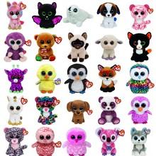 Ty Beanie Boos Plush Animal Doll Toy Owl Unicorn Cat Elephant Penguin Leopard Foxy Dog Rabbit Giraffe Panda Monkey Baby Kids Toy