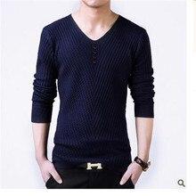 2017 Осень и зима мужская Корейской Тонкий шею свитер плюс жирный плюс большие дворы гарнитура свитер горячие продажи