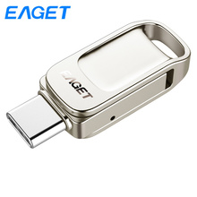 Eaget OTG USB Flash Drive 32gb 64gb 128gb Usb 3.0 Key Type-C 3.1 Metal Pen drive 64GB mini flash Pendrive stick