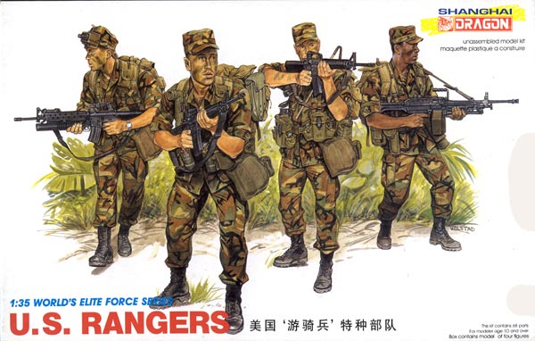 Dragon 1 35 scale U S Rangers figure kit