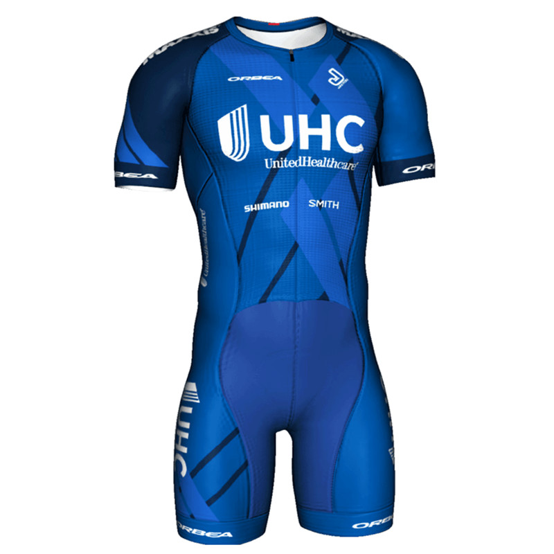 Jakroo UHC Team Uniform Professional Cycling Jersey Jumpsuit Women's Short Sleeve Cycling Clothing Set Soft Breathable Quick Dry jakroo elt women s 1 2 cycling shorts quick dry breathable highly elastic cycling clothing bicycle equipment tsw belgian cushion