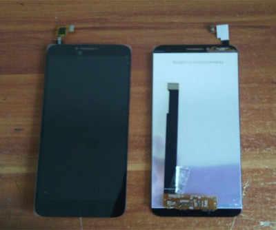 Черный Белый для Alcatel Idol 2 OT6037 6037Y 6037 K ЖК-дисплей с сенсорным экраном дигитайзер в сборе с рамкой