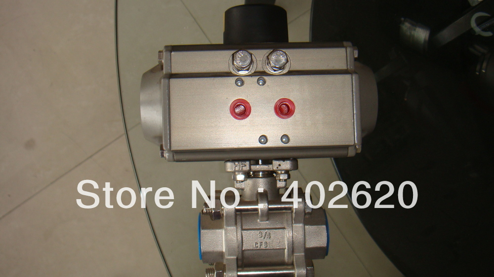 pneumatic ball valve pneumatic type DN25 1 size pneumatic double acting with actuator ball valve two