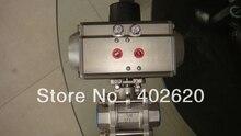 Пневматический шариковый клапан, пневматического типа, ДУ25, 1 «размер пневматические, двойного действия, с шаровым приводом клапана, два ходовой шаровой кран
