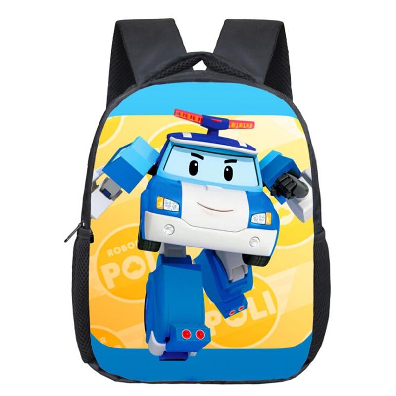 Cartoon Children School Bags Robocar Poli font b Kids b font font b Backpack b font