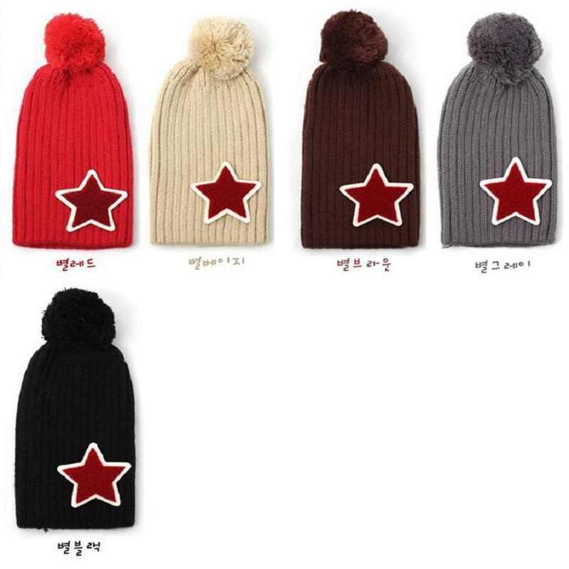 3c48debedce ... Wool Kids Hat Star Children Stocking Hats Infant Cap Beanie Boys Winter  Caps Child Bucket Bonet ...