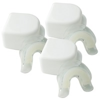 3PCS Silicone Prefilled Mouth Tray With Retainer Case Double Layer Mouth Guards 100 Food Grade Silicone