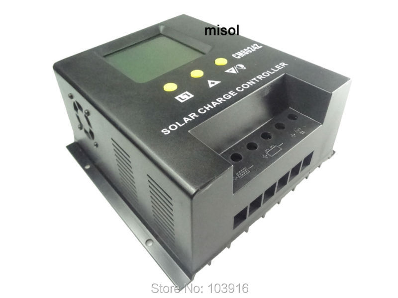 misol / solar regulator 80A 12V 24v solar charge controller PWM, for solar panel battery charging 45a pwm solar panel controller solar charge controller regulator 12v 24v battery charging for 1kw solar system