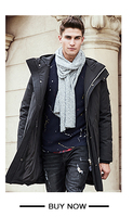 пионер лагерь новое прибытие длинный толстый бренд зима утка пуховик мужская высокое качество мода теплый белый утка вниз пальто мужской 611637