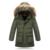 Chicos abrigos de Invierno Niños Nieve Pato Parkas prendas de Vestir Exteriores 130-170 cm Bebé Niños Abrigo Pakars Acolchada Chaquetas de Invierno