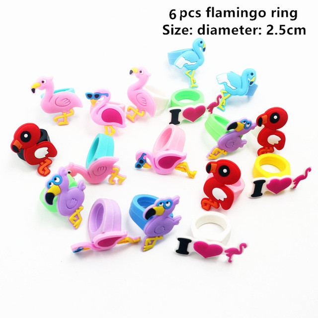 6pcs Flamingo ring Mermaid party plates 5c64f5cb3123b