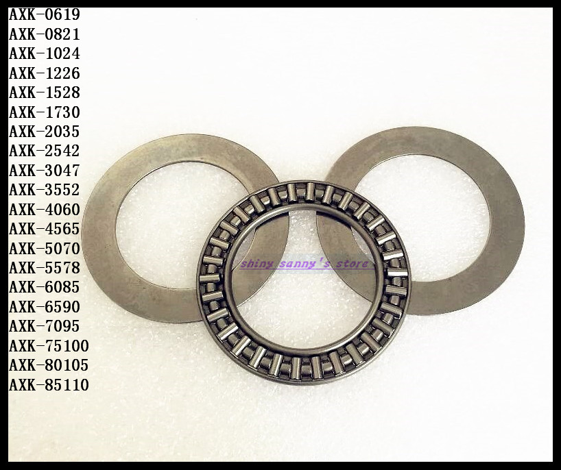 купить 2pcs/Lot Thrust Needle Roller Bearing AXK7095 70mm x 95mm x 4mm Thrust Bearing Brand New недорого